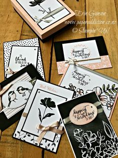Stampin Up Petal Passion Memories and More. Gift box with six cards. So easy! Erin Gunson www.paperaddiction.co.nz