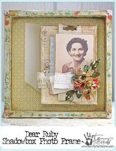 Dear Ruby Shadowbox Frame   www.tammytutterow.com   DIY Home Decor