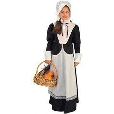 Pilgrim Girl's Costume