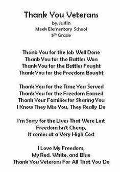 [ Sample Thank You Letter Wwii Veterans Military Fallen Sleep Inn Thankyou ] - Best Free Home Design Idea & Inspiration Veterans Day Speeches, Veterans Day Quotes, Veterans Day Thank You, Law Enforcement Quotes, Veterans Day Activities, Holiday Activities, Writing Activities, Thank You Poems, Military Veterans