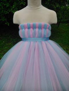 Blue and pink empire waist tutu – tutu dress – baby tutu dress – wedding tutu dress – party tutu dress – birthday tutu dress