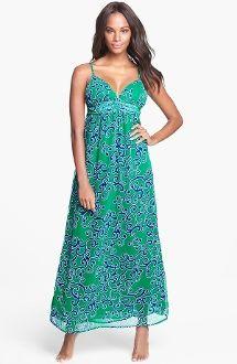 d957d3f2a5b1 TOMMY BAHAMA Ocean Swirl Cover Up Maxi Dress Parakeet $99 Green Tuxedo,  Bahama Blue,