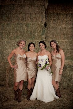 A Big Sky Country wedding Reverie Magazine | Fall 2012 Photography by Erin Kate Photography. LOVE the bridesmaid's dresses!!!