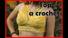 como tejer un TOP para el verano a CROCHET. Lanas anita #163 Lana, Crop Tops, Swimwear, Women, Fashion, How To Knit, Summer Time, Crocheting, Bathing Suits