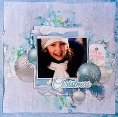 """Evgenia here are the new projects with September collections. Beautiful shabby collection is good for the children's projects. """"Merry Christmas"""" a layout by Evgenia Kaisercraft products: Christmas Wishes, Christmas Home, Merry Christmas, Christmas Layout, Christmas Scrapbook Pages, Scrapbooking Layouts, Card Making, Paper Crafts, Projects"""
