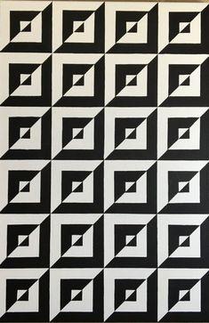 "Painting, ""Original Op Art Geometric Canvas Painting by Dominic Joyce"" Geometric Quilt, Geometric Art, Geometric Designs, Simple Geometric Pattern, Art Optical, Optical Illusions, Zentangle Patterns, Quilt Patterns, Doodle Patterns"
