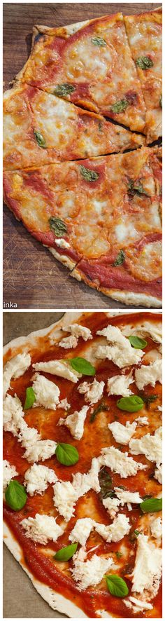 Margherita Pizza with puff pastry crust. Ready in 20 min and 1000 times better than frozen!! #pizza #vegetarian