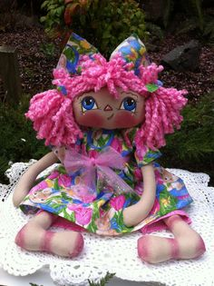 "12"" PRIMITIVE EASTER RADDEDY ANN DOLL BY PRIIMTIMES #201570 #NaivePrimitive"
