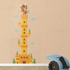 ABUM - Viking maci a várban magasságmérő domború falmatrica | Odekor