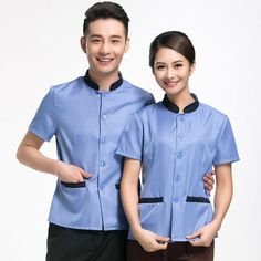 In uniformonline get housekeeping uniforms including dresses, tunics and shirts, pants, and aprons. Beauty Uniforms, Housekeeping Uniform, Work Uniforms, Men In Uniform, Design Your Own, Printing On Fabric, Chef Jackets, Men Casual, Photoshoot