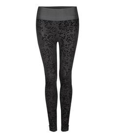 Take a look at this Black Flocking Leggings by Milk 26 on #zulily today!