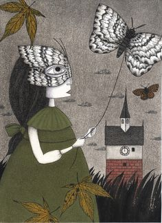 """Saatchi Online Artist: Judith Clay; Pastel, 2011, Drawing """"Oda (An All Hallows' Eve Tale)"""""""