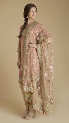 Ritu Kumar. love the soft color with textured detail