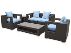 Apollo Outdoor Patio Furniture Set.  Comes in so many colors.  The boxy look is so trendy!
