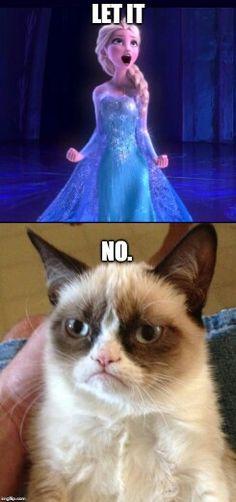 Let it -- NO. Grumpy Cat