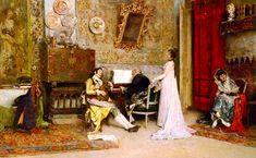 Raimundo de Madrazo y Garreta (1841-1920) — The Music Lesson  (1000×616)