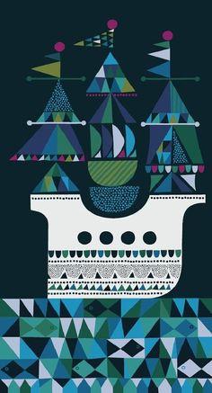 Sanna Annukka #Illustration via Ourhaus #illustration