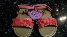 Girl's Dress Coral Sandals Size Toddler 9/10 - NWT!! Cute! #Sandals