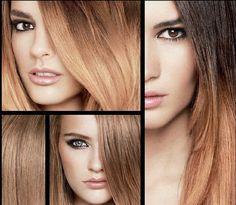 3 x ombre hair