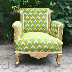 a gorgeously green library chair for @Stephanie Bader