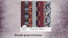 Purple Plum [Patterns] by butterflyDsign