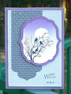 Serene Challenge by - Cards and Paper Crafts at… Card Making Inspiration, Making Ideas, Serene Silhouettes, Beautiful Handmade Cards, Bird Cards, Stamping Up Cards, Pretty Cards, Sympathy Cards, Card Tags