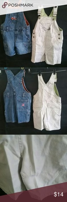 2pr 2T Gymboree shortalls Both in great condition. On the light pair there is a small dark spot. Not sure where it came from. But other than that. Lots of life left. Size 2T.  Pet free and smoke free home. I usually accept most decent offers. Like something, make me an offer. I love to bundle.  TB103 gymboree Bottoms Overalls