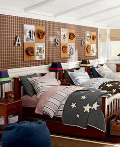 Jackson Shared Spaces | Pottery Barn Kids ---perfect for the erdie boys