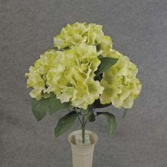 1 Pc, 18 Inch Artificial Hydrangea Bush w/5 Stems Fit Seasonal Decor/Different Style Party - Green