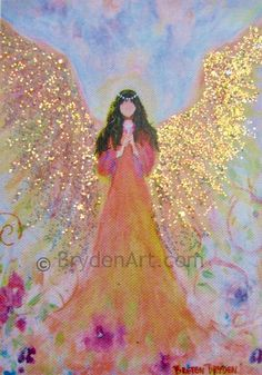 Angel Artwork, I Believe In Angels, Glitter Photo, Angels Among Us, Angel Pictures, Painted Rocks, Original Paintings, Angel Paintings, Fantasy Art