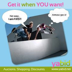 Who doesn't want to rank first? #Shop without obstacles and get the great auctions! Get it when YOU want! www.yabid.net