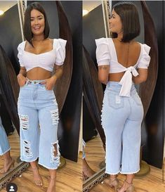 Você usaria esse look ? Crop Top Outfits, Summer Outfits, Girl Outfits, Fashion Outfits, Cute Comfy Outfits, Classy Outfits, Stylish Outfits, Look Fashion, Girl Fashion