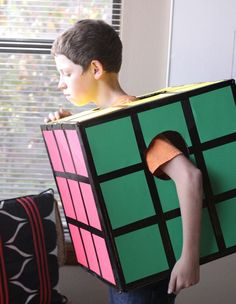 How to make a Rubiks Cube costume for Purim