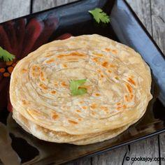 Kerala Paratha (Lacha Paratha) Flaky Indian flat bread made with all purpose flour.