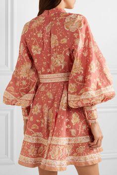 Multicolored linen Button fastenings along front, concealed zip fastening along back linen Dry clean Casual Dresses, Short Dresses, Chloe, Kurti Designs Party Wear, Stylish Dress Designs, Vintage Stil, House Dress, Printed Linen, Pakistani Dresses