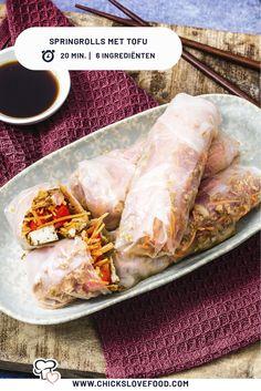 Vegan Diner, Vegan Recipes, Vegan Food, Healthy Food, Low Cholesterol, Fruit Drinks, Fresh Rolls, Lunches, Tofu