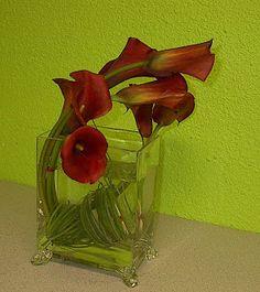 Las Vegas Flowers, Premier Event Florists: Majestic Red Calla Lilies
