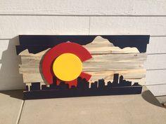 Colorado Sign Colorado Flag sign Colorado decor by RadGraffix