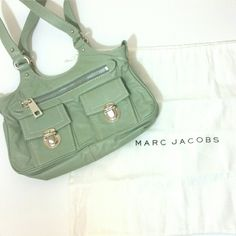Mark Jacobs Mint Mini Bag Mark Jacobs Mint Mini Bag. Comes w/ dustbag. Gently used. Clean tan interior. Some discoloration around interior zipper pocket. Clean leather exterior.   More photos coming soon.  L: 10 in  H: 6 in D: 2.5 in Drop: 8 in  No Trade or PP  Offers Considered  Bundle discounts Marc Jacobs Bags Mini Bags