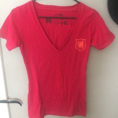 rvca red v-neck tee great condition! like new. so comfy. RVCA Tops Tees - Short Sleeve