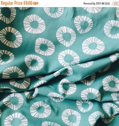 Soft and stretchy Organic Jersey in a mint geometric design by Lillestoff. This is a single layer knit, suitable for t-shirt, shorts and other
