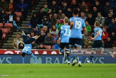 <a gi-track='captionPersonalityLinkClicked' href=/galleries/search?phrase=Dele+Alli&family=editorial&specificpeople=9976958 ng-click='$event.stopPropagation()'>Dele Alli</a> of Tottenham Hotspur (20) celebrates with team mates as he scores their fsecond goal during the Barclays Premier League match between Stoke City and Tottenham Hotspur at the Britannia Stadium on April 18, 2016 in Stoke on Trent, England.