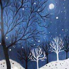 Easy Winter Scene Painting