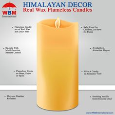 Candle with LED light No-mess wax construction 18-key remote control with a four and eight-hour timer #candel #decoratvieitem #wbminternational