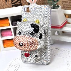 White Cow Plastic Doll Deco Den Kits for DIY i phone 4 case iphone Shell (matched with the iphone case) Iphone 4s, Iphone Cases, Matching Phone Cases, White Cow, Plastic Doll, Pretty Little Liars, Den, Shells, Country