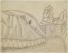 cavinmorrisgallery:  Joseph YoakumMound Valley Chetopa Kans., n.d.Graphite on paper8.5 x 11 inches21.6 x 27.9 cmJY 40  http://www.cavinmorris.com