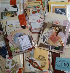 100 + gefunden pc Vintage Mini Papier Pack Papiersatz Junk-e-Journal