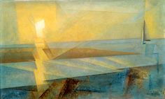 Lyonel Feininger, Sunset at Deep (Sunset), 1930