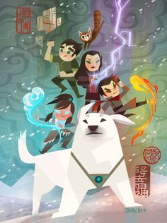 """Joey Chou - This SDCC exclusive """"The Legend of Korra"""" print will be released at San Diego Comic Con this year. July 2016 - July 2016 At Gallery Nucleus Booth I will be there doing signing as well. Avatar Aang, Avatar Airbender, Team Avatar, Legend Of Aang, Joey Chou, The Last Avatar, Avatar World, Avatar Series, Korrasami"""