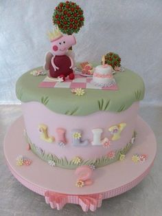 Peppa Pig is so popular and I really enjoyed creating this cake for a little girls 2nd Birthday https://www.facebook.com/CakeDesignsByDeborah